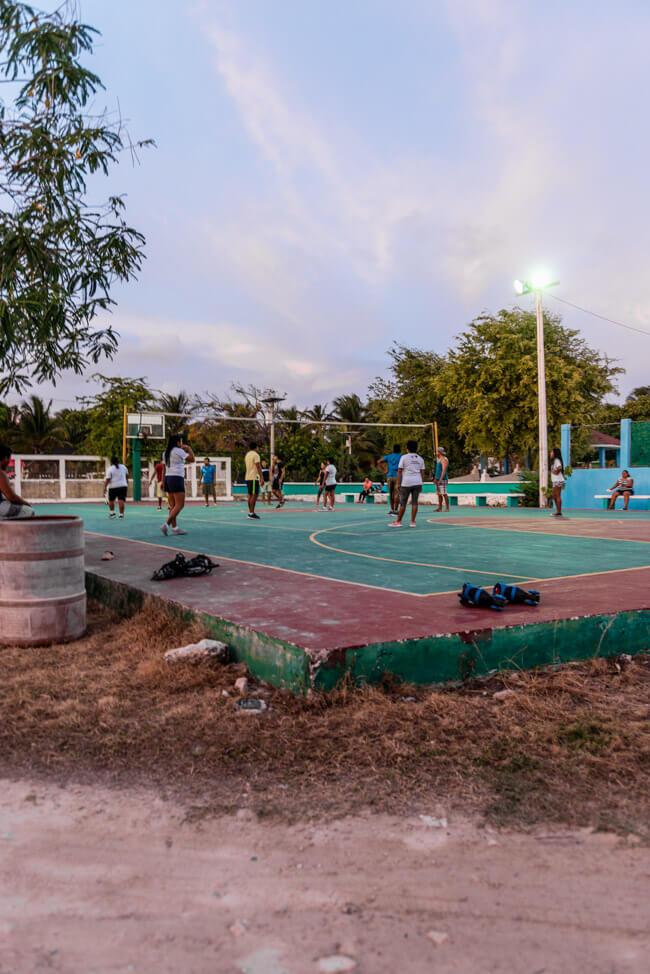 Punta Allen Ballspielplatz