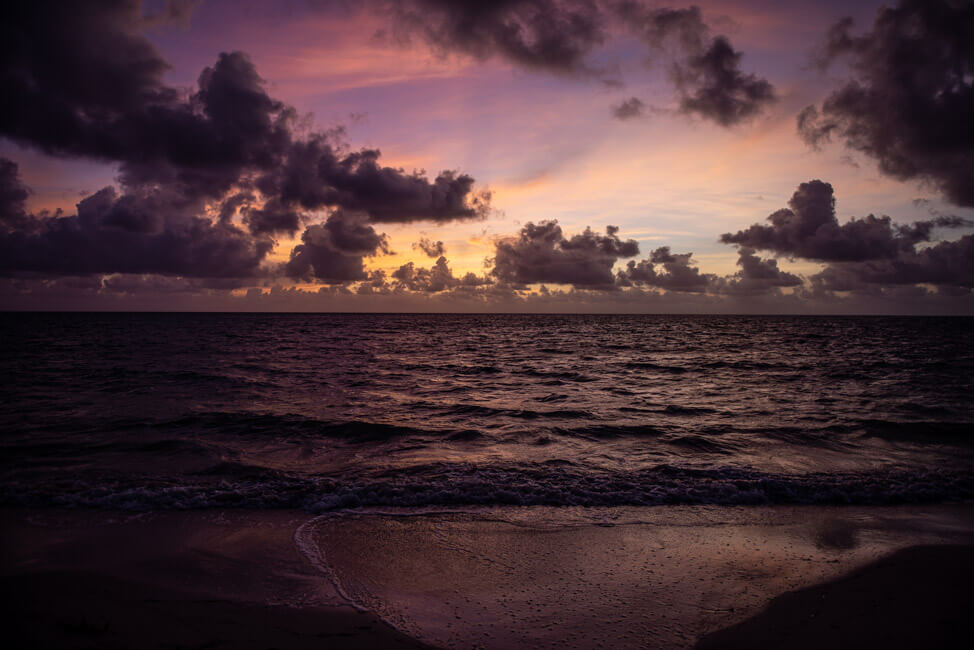 Punta Allen Sian Ka´an Nationalpark Meer Strand Traumstrand Palmen Morgenstimmung Sonnenaufgang