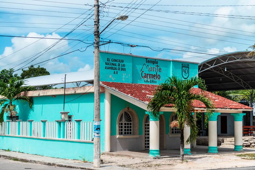 Coba Kirche Templo Monte Carmelo Quintana Roo
