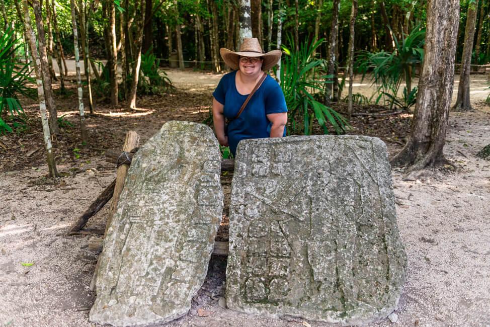 Ruinen von Coba Quintana Roo Yucatan Nohoch Mull Stelen