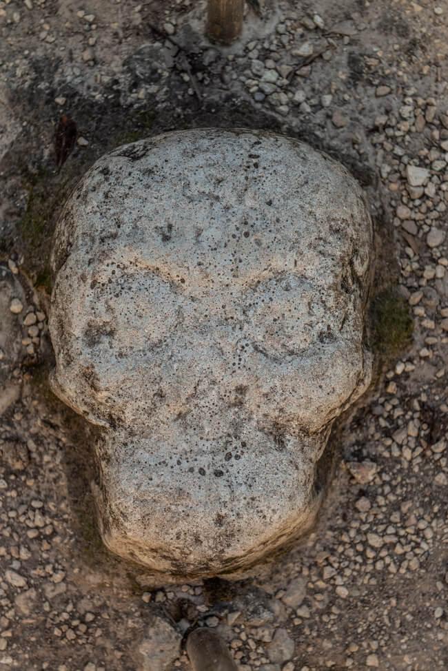 Ruinen von Coba Quintana Roo Yucatan Nohoch Mull Schädel
