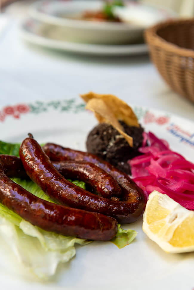 traditionelle Bratwurst Valladolid morcilla de Valladolid