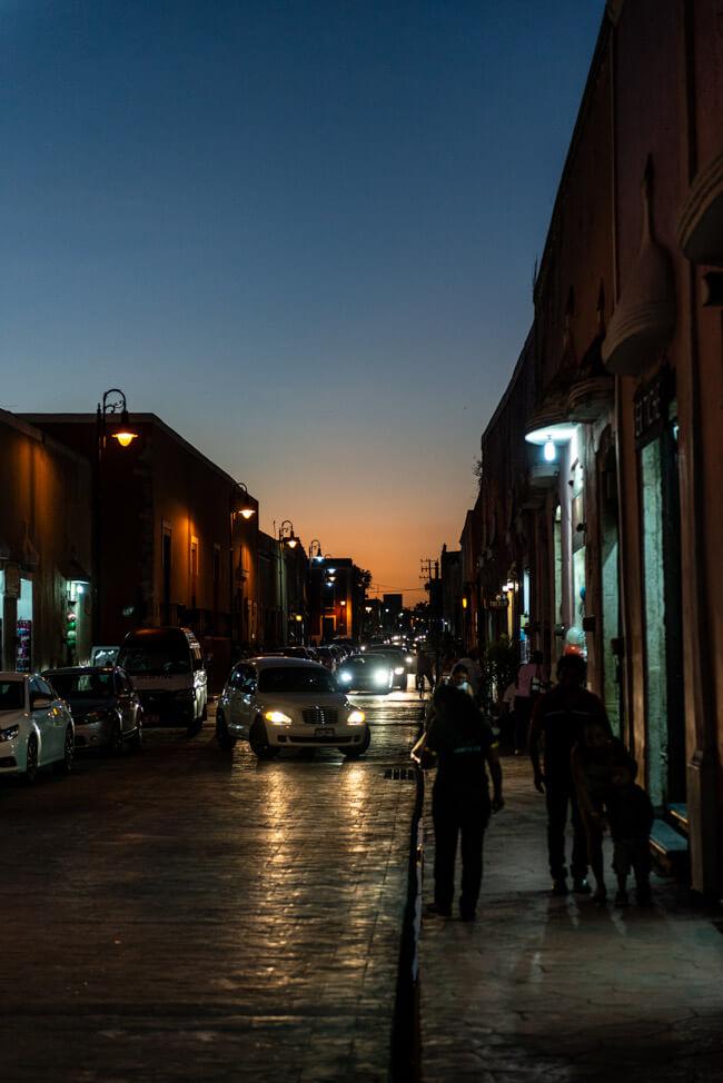 Valladolid bei Nacht