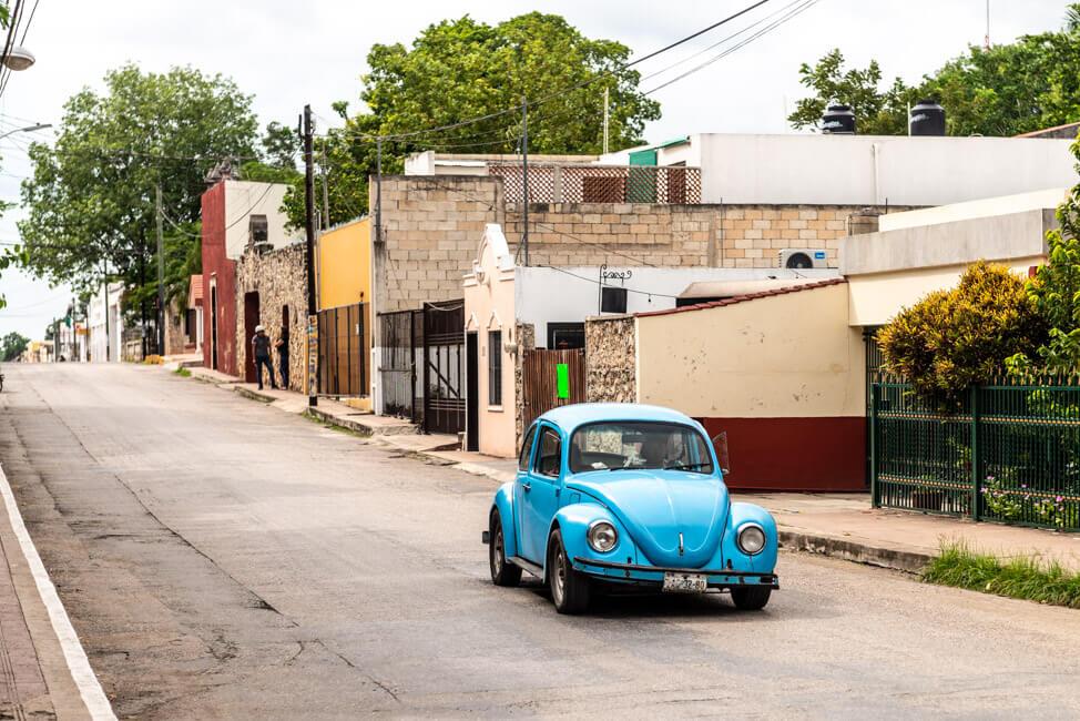Valladolid Straße VW Käfer