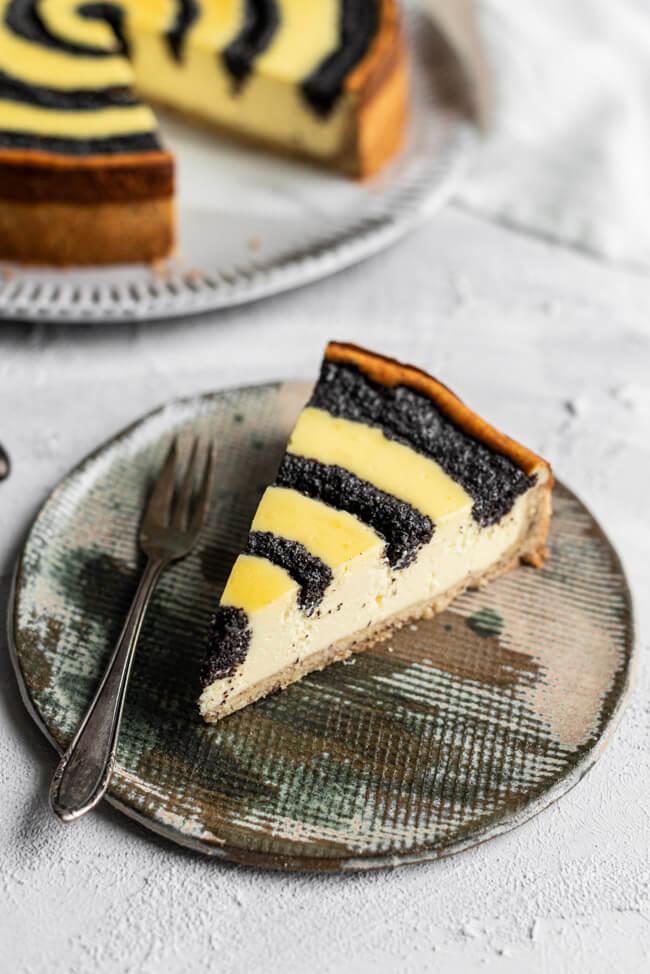 Käsekuchen mit Mohn Cheesecake Mohnkuchen Käse-Mohn-Kuchen Sonntagskuchen weltbester Käsekuchen perfekt Kuchen backen