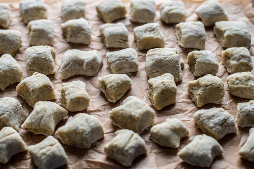 Topinambur Gnocchi selbstgemacht Pasta Schritt für Schritt