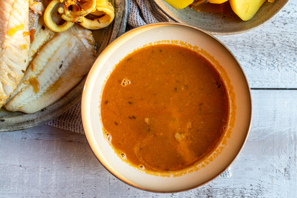 Bouillabaisse aus Kitchen Impossible Fischsuppe Soupe de Poisson