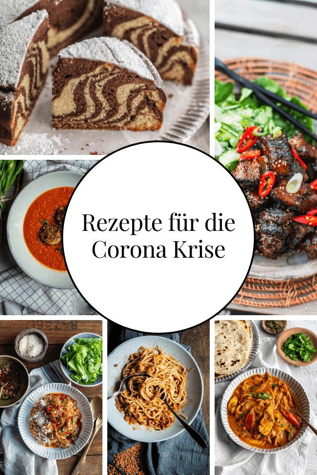 Rezeptsammlung von verschiedenen Rezepten für die Corona Krise. #pasta #kochen #backen