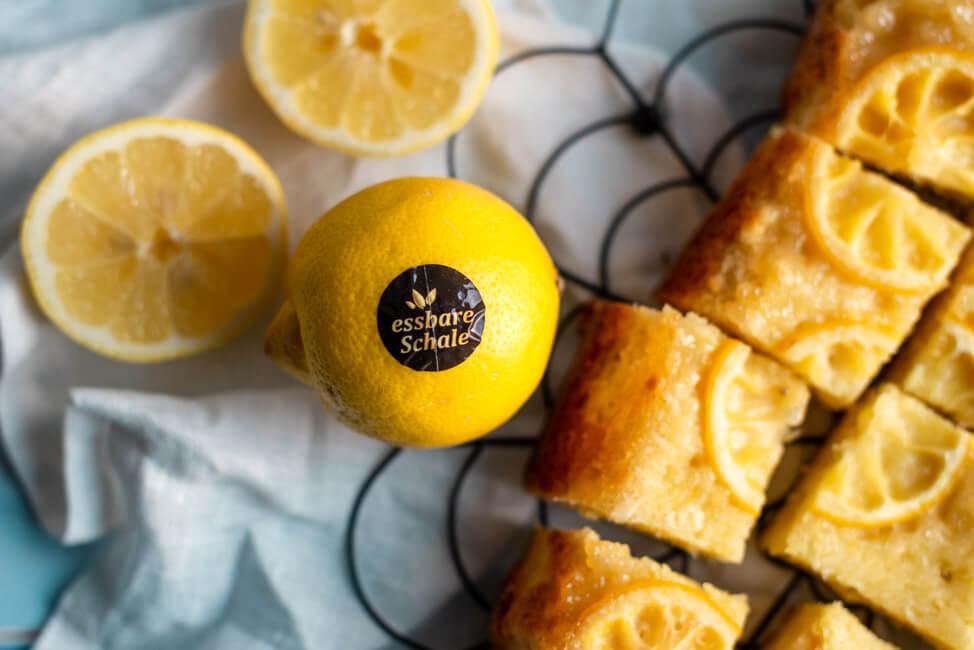 Zitronen Upside Down Kuchen Cake Lemoncake Zitronenkuchen essbare Schale Olivenöl ALDI SÜD