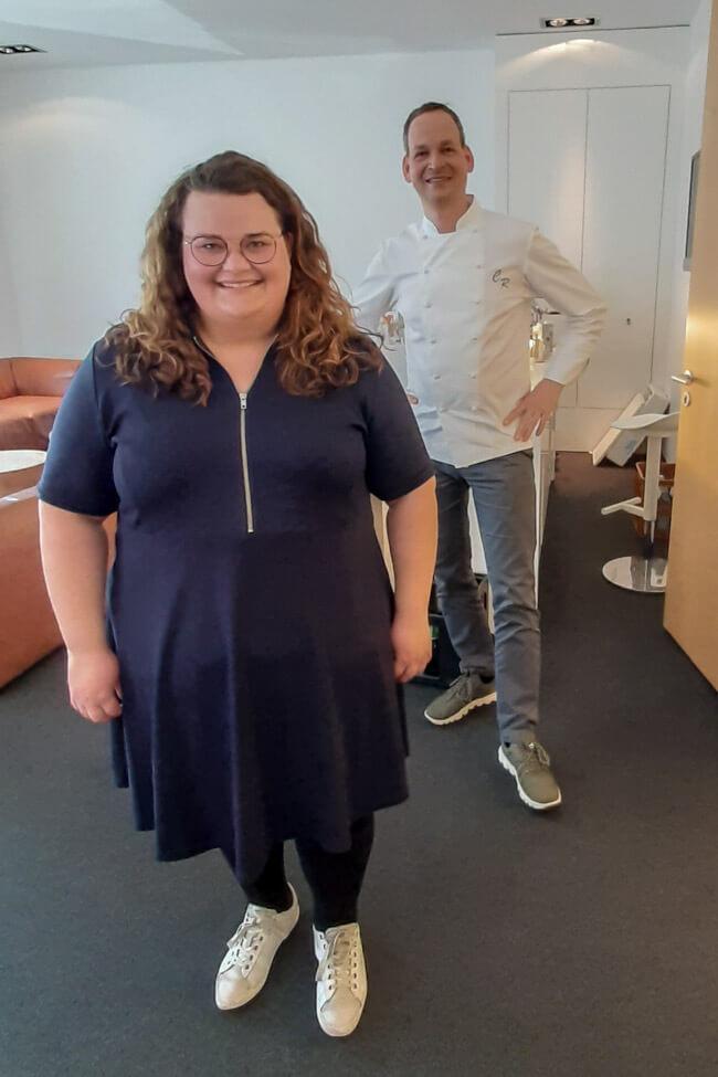 Tina Kollmann mit Juror Christoph Rüffer bei Die Küchenschlacht