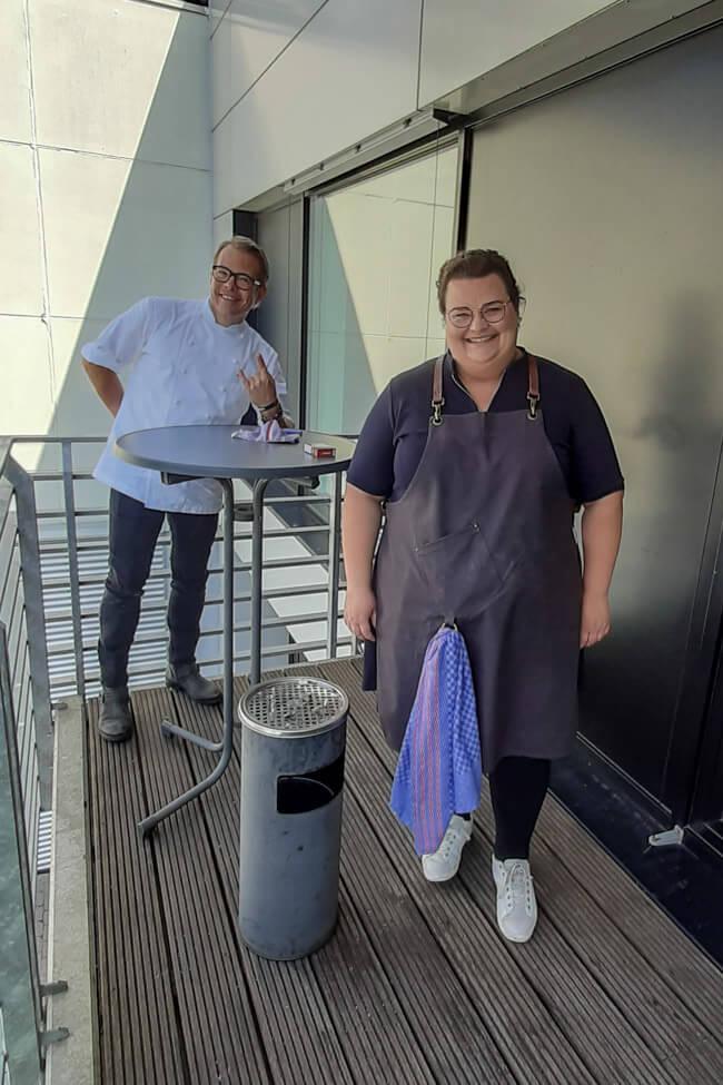 Tina Kollmann mit Mario Kotaska bei die Küchenschlacht.