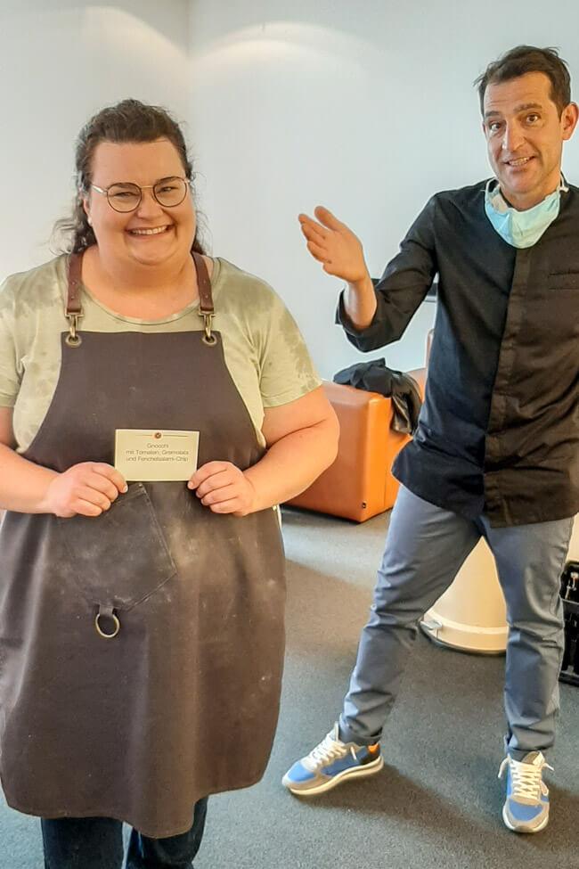 Tina Kollmann mit Martin Baudrexel bei die Küchenschlacht.