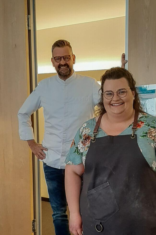 Tina Kollmann mit Thomas Martin bei Die Küchenschlacht.