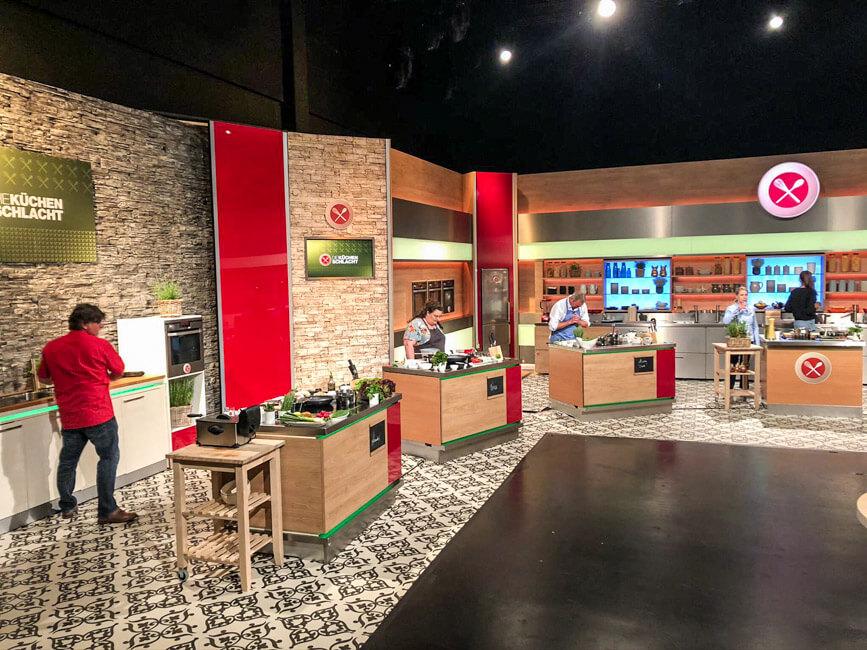 Backstage im Studio von Die Küchenschlacht.