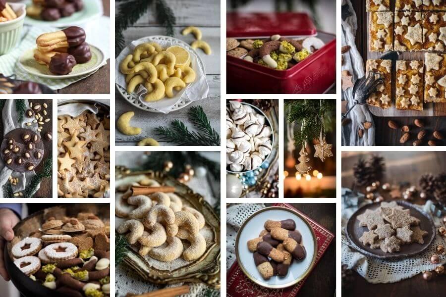 verschidene Weihnachtsplätzchen von Tina von foodundco.de