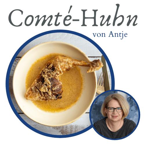Comté Huhn und Portrait von Antje